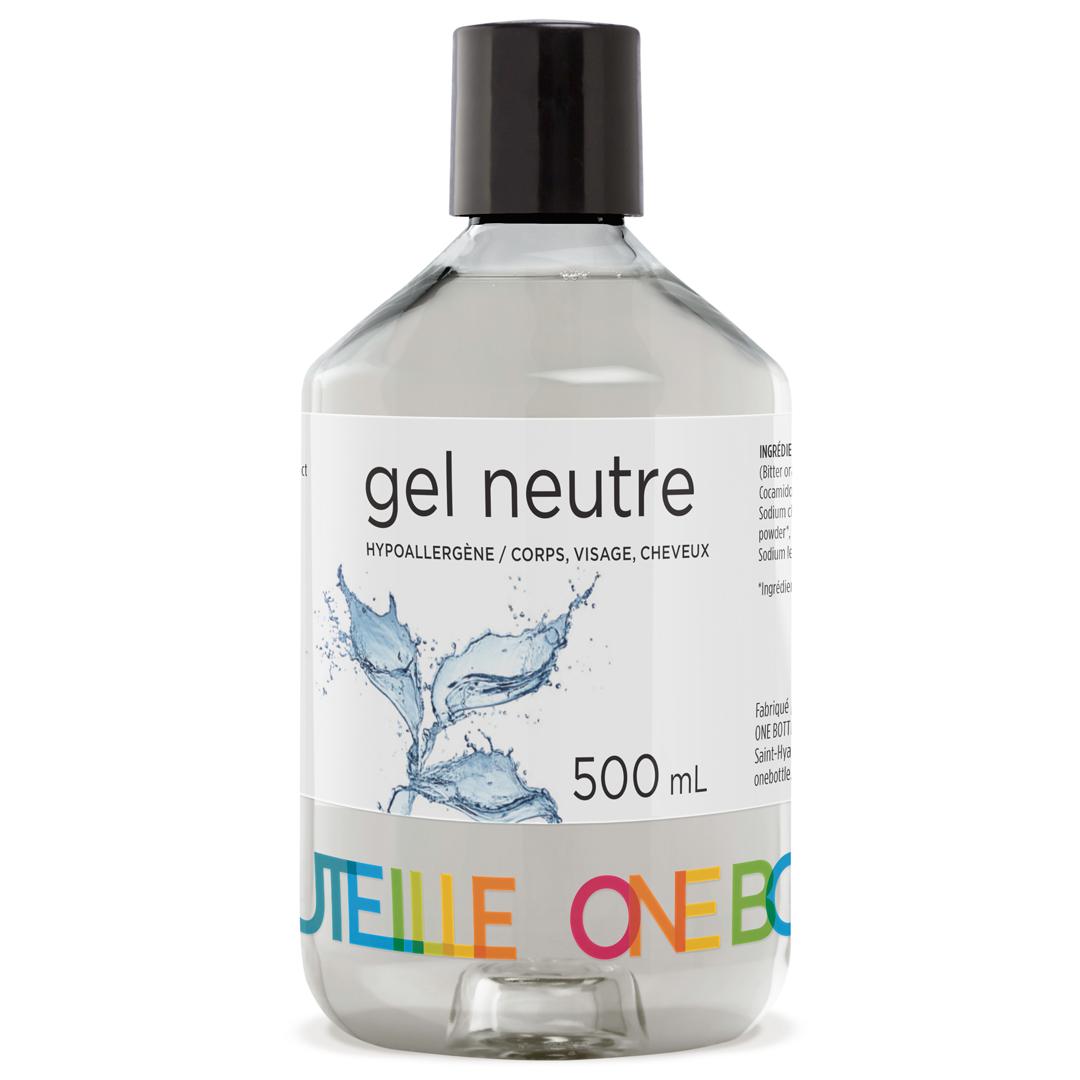 Gel neutre hypoallergène, corps, visage, cheveux, 500 ml