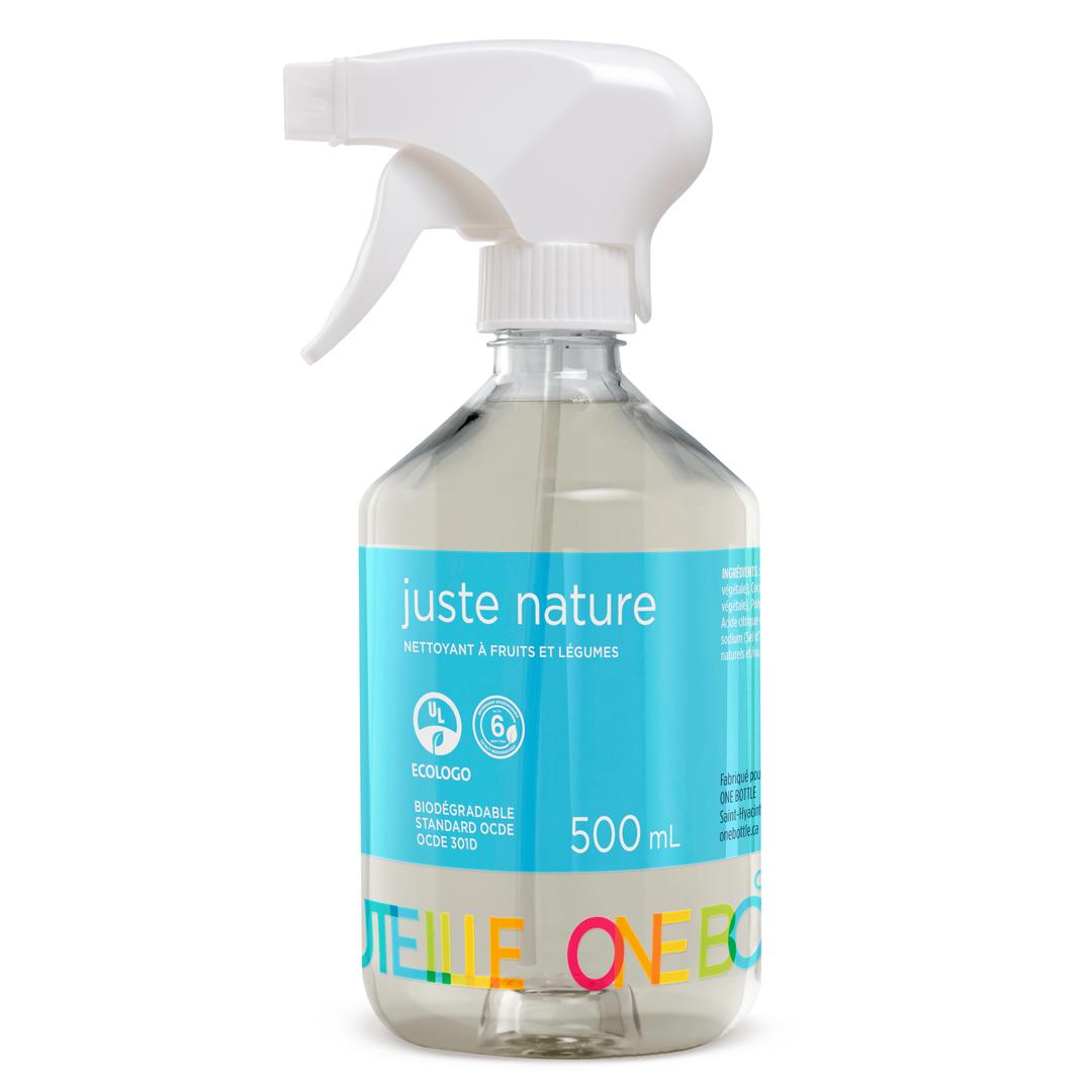Juste nature, nettoyant vaporisateur à fruits et légumes, 500ml
